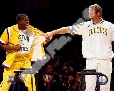 Larry Bird Boston Celtics Magic Johnson LA Lakers Photo #5 8x10