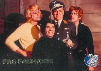 Hogans Heroes trading card 1998 Inkworks TVs Coolest Classics #18 Werner Klemper Colonel Klink Richard Dawson Bob Crane