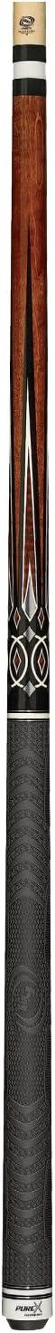Purex hxt-66チョコレートbirds-eye Maple withブラックandホワイトクラウンポイントテクノロジープールキュー  20-Ounce