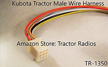 Amazon.com: Kubota Tractor Radio Wire Harness Male RTV 9 Pin RTV-1100  RTX-1100C Harness B2650 RTX 1100: Industrial & ScientificAmazon.com