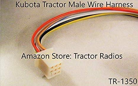 amazon.com: kubota tractor radio wire harness male rtv 9 pin rtv ...  amazon.com