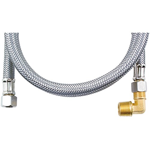 MK448B Braided Stainless Steel Dishwasher Connectors with El