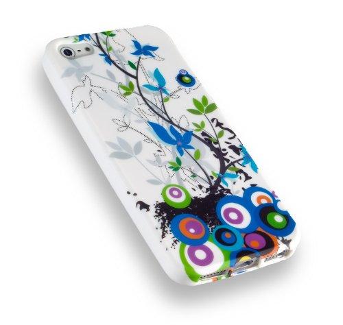 yayago TPU schutzhülle für Apple iPhone SE Tasche mit wild flower Blau Muster