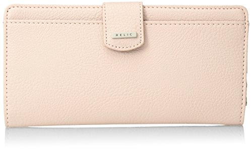 Relic by Fossil RFID Solid Tab Checkbook Wallet, Blush (For Women Bifold Fossil Wallets)