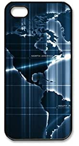 For SamSung Note 2 Phone Case Cover PC Hard Shell Sensor Deep Map Black Skin by Sallylotus