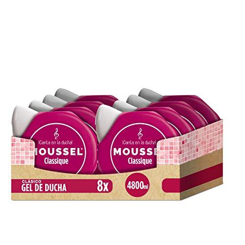 Moussel Gel Liquido Classique Con Aceites Esenciales Naturales Paquete De 8 X 600 Ml Total 4800 Ml
