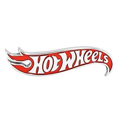 Hot Wheels Red Chrome Logo Side Fender Lid Hood Badge Decal Emblem: Automotive