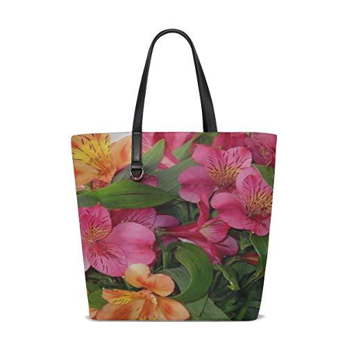 (Rh Studio Tote Bag Alstroemeria Bouquet Vase Leaves Purse Handbag For Women Girls)