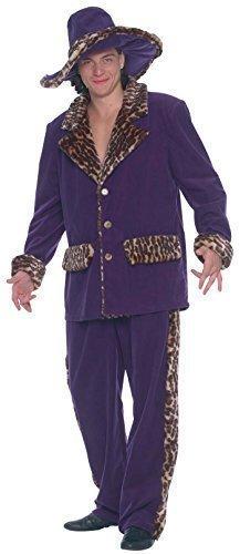 hombre púrpura estampado leopardo detalle AÑOS 20 Gánster ...