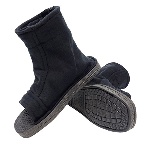 DAZCOS Unisex Black Shippuden Ninja Shoes [US 5 - US 11] [ Adult/Child ] (13 M US Women/12 M US Men)]()