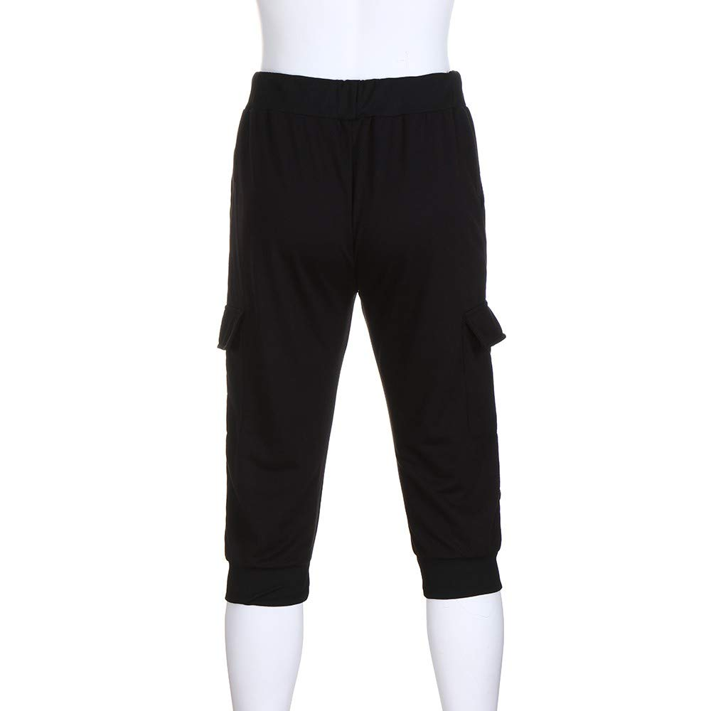 Spbamboo Mens Casual Shorts Pockets Elastic Waist Solid Slim Fit Sport Pants by Spbamboo (Image #6)
