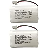 Uniden BBTY0504101 model BT446 Genuine Original OEM Uniden Shipped with Uniden Phones, Part Number BBTY0504101, Nickel Metal Hydride Rechargeable Cordless Phone Battery Pack; Equivalent to Uniden BT909, BT1005 and BT504; Fits WHAM; DC 3.6V 800mAh; Also known as BBTY0504001; Manufactured in China by BYD for Uniden - Pack of 2