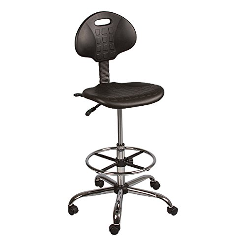 Norwood Commercial Furniture Industrial Polyurethane Drafting Stool with Tilt Control and Foot Ring, NOR-IAH1041-SO ()