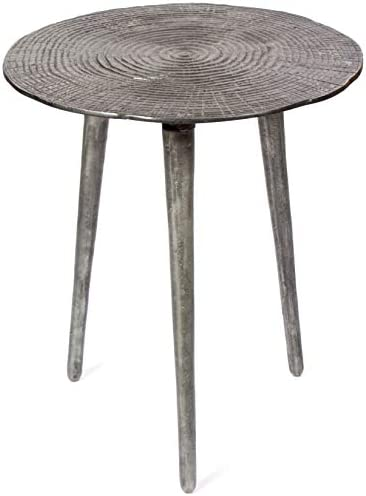 H Potter Indoor Outdoor Patio Accent Side End Table Silver