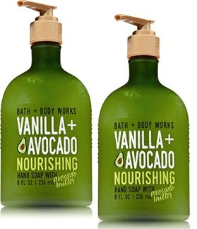Bath and Body Works 2 Pack Vanilla Avocado Hand Soap with Avocado Butter 8 (Avocado Body Butter)