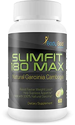 Slimfit 180 Max - Natural Garcinia Cambogia - Garcinia Cambogia Weight Loss - Pure Garcinia Cambogia to Help You Control Your Appetite - Burn Fat - Lose Weight with This Weight Loss Secret Gone Viral