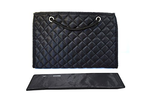 - Zoe Quilted Handbag Bag Purse Organizer Insert with Removable Base Large (Black)