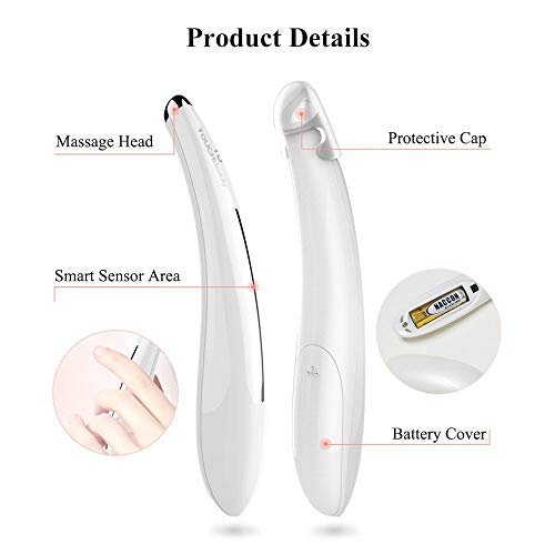 Electric Eye Massager for Dark Circle with Sonic Vibration & Heating (white), Great Gift Ideas