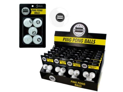 bulk buys Pittsburgh Ping Pong Ball Display, Black/White by bulk buys