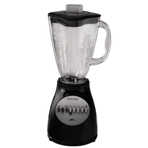48 Ounce Oster Classic Series Accurate Blend 100-Black-Plastic Jar Black