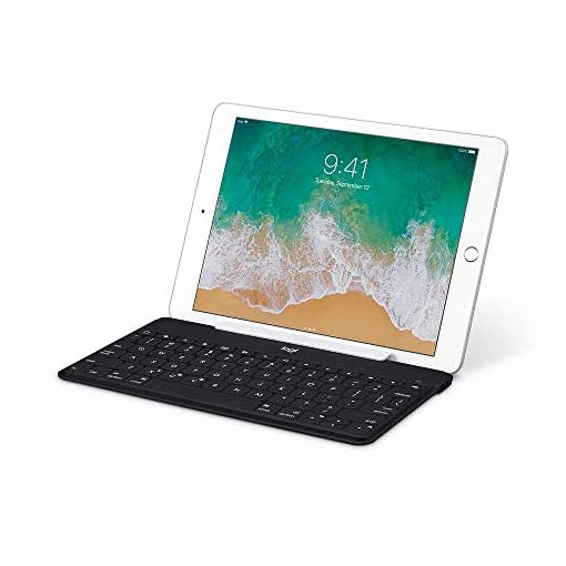 Logi by Logitech Keys-to-Go Keys to go Ultra Slim Keyboard compatible with iPhone/iPad + stand (Renewed)