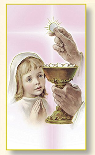 Westman Works First Communion Girl's Holy Card Print Pack, Set of 10 ()