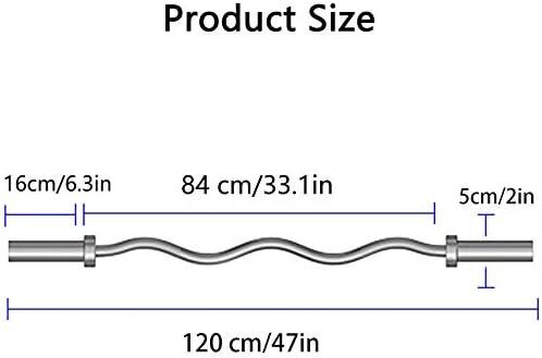 120cm Barras de Pesas Olímpica,Ø50mm Barbell EZ Curl Bar con Rodamiento Barras para Levantamiento de Pesas,para Entrenamiento de Fuerza Barra de Fitness de Agarre Antideslizante | Revista 21-15-9