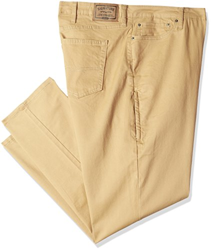 (Signature by Levi Strauss & Co. Gold Label Men's Big and Tall Athletic Tech Jeans British Khaki 48W x 30L)