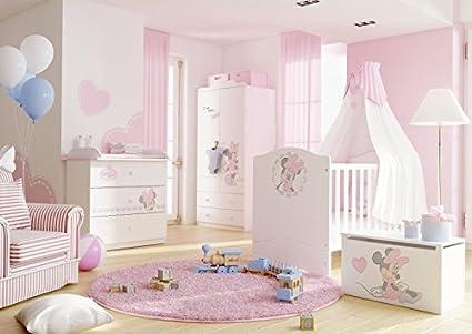 Rosa Minnie Wanduhr | Kinderzimmer Uhr | 92 cm | Disney Minnie Maus