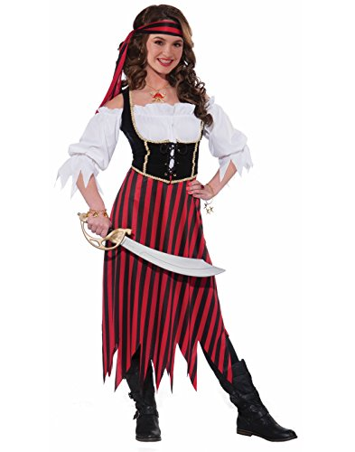 Teenager Halloween Costumes (Forum Novelties Women's Teenz Pirate Maiden Costume, Multicolor, Teen)