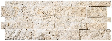 250 Ledger (Ivory Travertine Splitface Stacked Ledger Wall Panel 7 in. x 20 in. Natural Stone Tile - 250 pcs / 250 sqf)