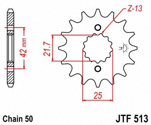 JT Sprockets JTF513.16 16T Steel Front Sprocket