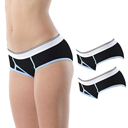 Boyleg Brief Panty - Vipex Women's Seamless Bamboo Short Thigh Underwear Boxer Boyleg Briefs/Panty (BX301,M) Black