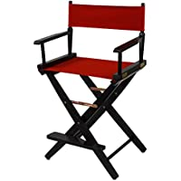 American Trails Extra-Wide Premium 24 Directors Chair Black Frame with Red Canvas, Counter Height