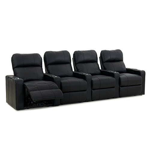 Octane Turbo XL700 Black Bonded Leather with Manual Recline (Row of 4 Straight) For Sale