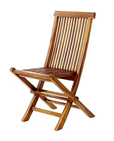 Amazoncom All Things Cedar Teak Folding Chair Garden Outdoor