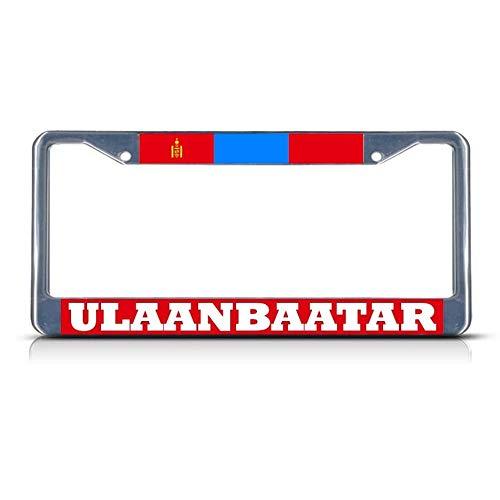 Mongolia Ulaanbaatar Chrome Heavy Duty Metal License Plate Frame Tag Border Perfect for Men Women Car garadge Decor]()