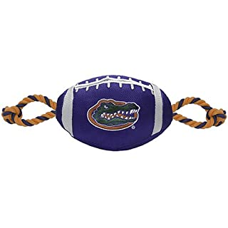 Pets First FL-3121 Collegiate Florida Gators Nylon Football Rope Dog Toy