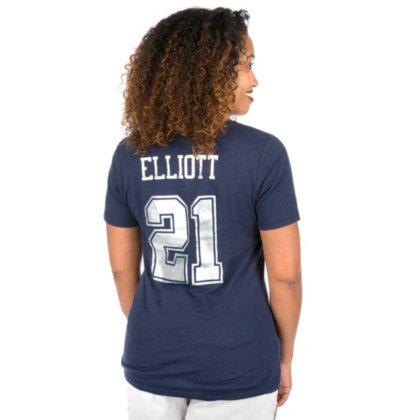 Amazon.com   Ezekiel Elliott Dallas Cowboys Navy Ruby V-Neck T-Shirt ... 105c598b6