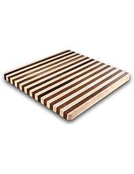 Kobi Blocks Maple Walnut Stripes Butcher Block Wood Cutting Board 24 X 24