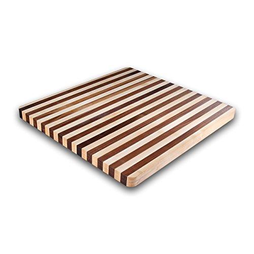 Kobi Blocks Maple & Walnut Stripes Butcher Block Wood Cutting Board 12