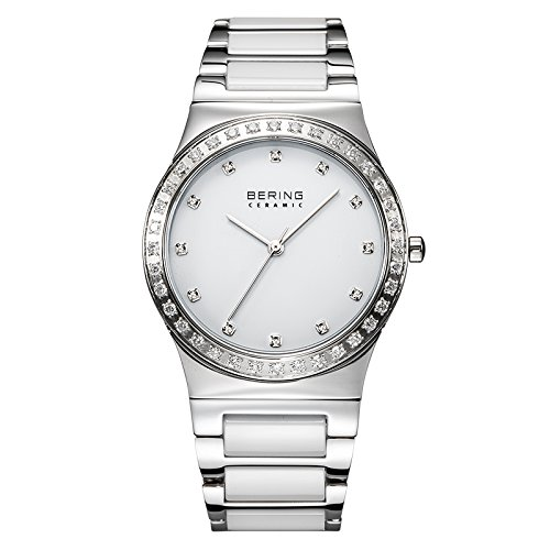 BERING Time 32435-754 Womens Ceramic Collection Watch with Stainless steel Band and scratch resistant sapphire crystal. Designed in Denmark.