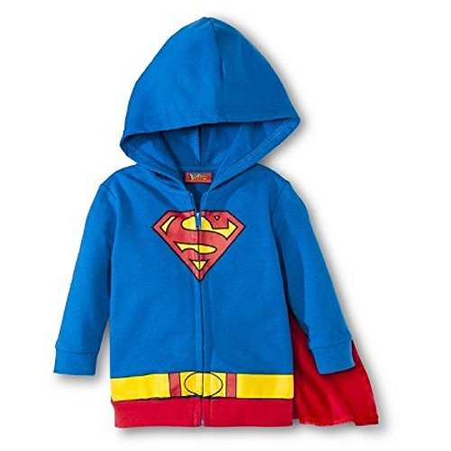 Baby Infant Boys' Superman Character Hoodie with Detachable Cape (3/6 mo)