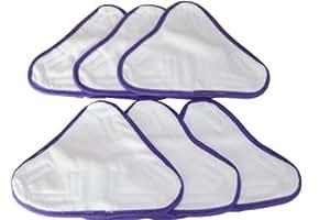Sin Marca Mopa a vapor de microfibra lavable adecuada para modelo X5 trapeador a vapor (6 unidades)