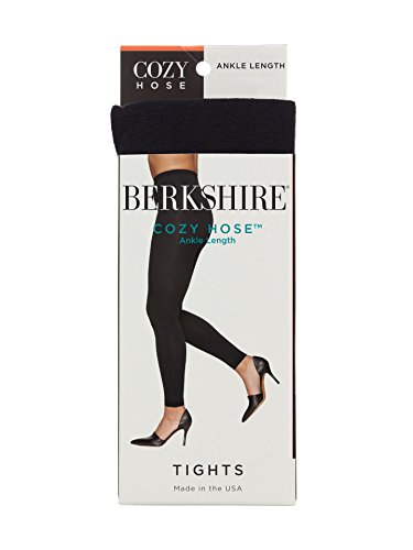 Berkshire Women's Plus Size Cozy Hose Ankle Length Footless Tights, black 3X-4X