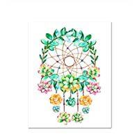GUOXIN12 Wall Art Prints Cactu Succulent Decor,Watercolor Boho Dreamcatcher Skull Canvas Painting, Nordic Wall Pictures for Living Room HK88