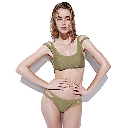 Sexy colore Termale Rosa Costume Military Da Piccolo Magro Green Donna Spiaggia Bikini Fuweiencore Petto Bagno Dimensione Medium R1tPWR7q