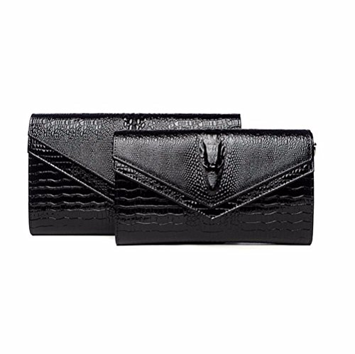 de banquet le red cuir sac Black grand Grand zqwnf5