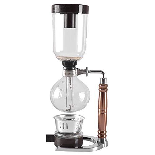 Coffee Pot Maker Pot Vacuum Coffeemaker Glass Type Coffee Machine Filter 3cups (Silver)