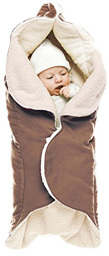 Wallaboo Baby Blanket Cozy Faux Suede with Thick Shearling Lining, Chocolate by Wallaboo